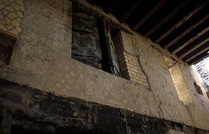 Herculanum premier étage d'une maison