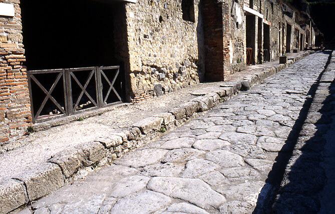 Herculanum rue pavée