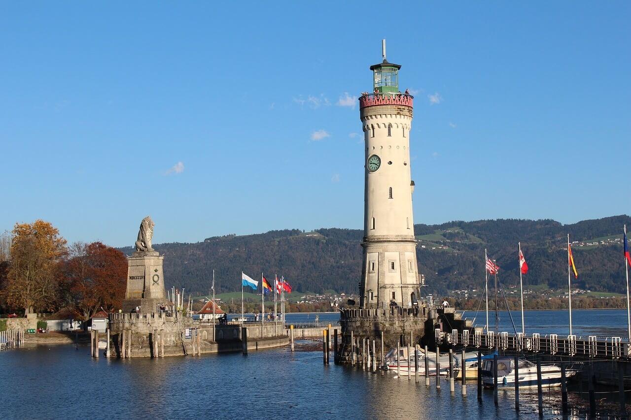 Lion de Lindau sur le lac de Constance