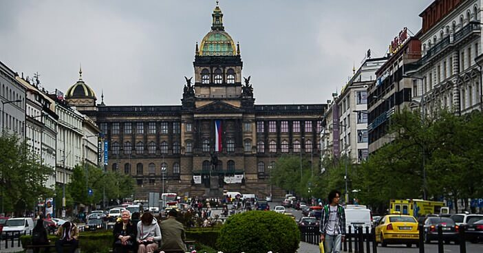Prague musée national avenue Venceslas