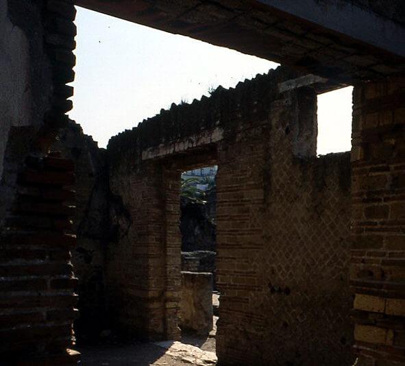 herculanum Vestiges d'une maison en briques