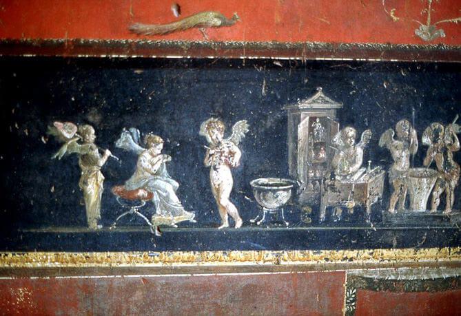 pompei maison vetii amours folatres