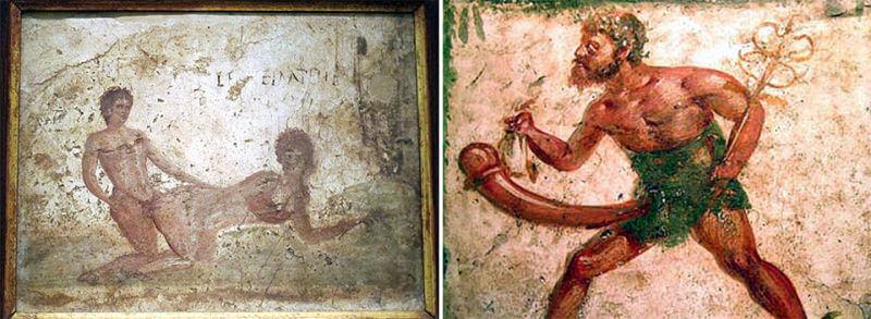 pompei musée archéologique de naples scene de bordel