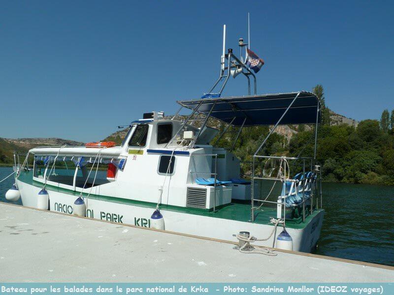 Bateau pour se balader dans le parc national Krka