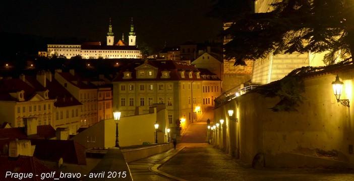 Prague Mala strana de nuit