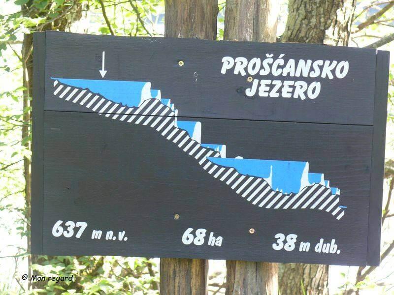 dénivelé parc national Plitvicka jezera
