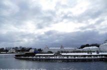 Aile du Chateau Nymphenburg sous la neige à Munich