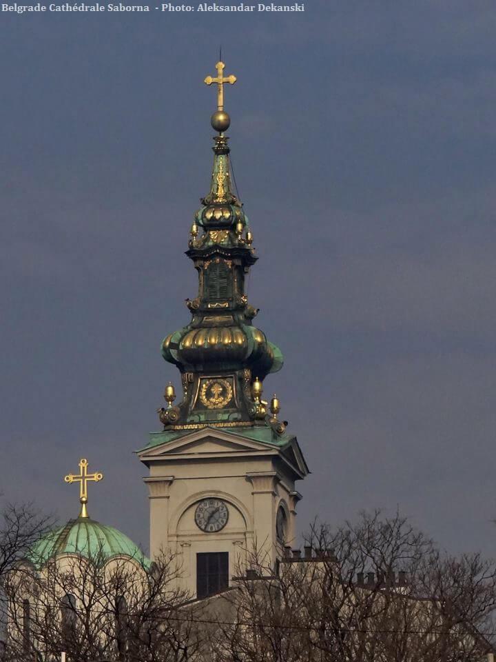 Belgrade clocher de la Cathédrale Saborna
