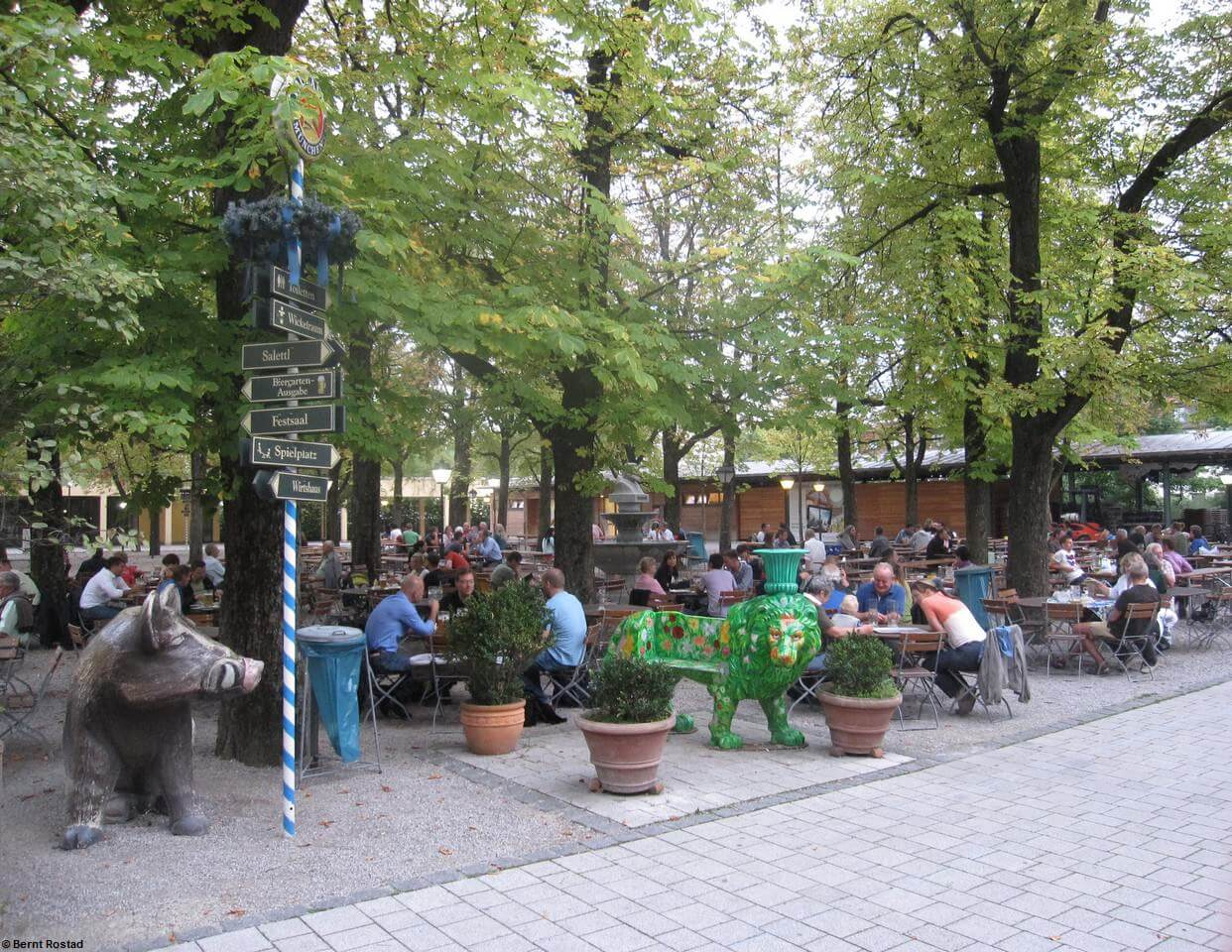 Biergarten Paulaner à Munich Nockherberg