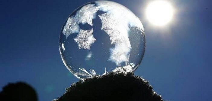 Bulle de savon cristallisation