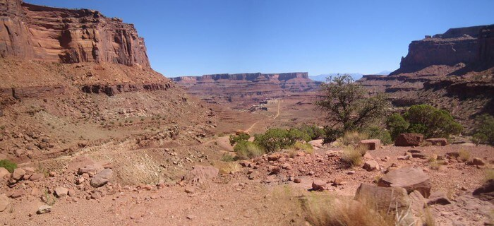 Colorado à Dead Horse Point paysage