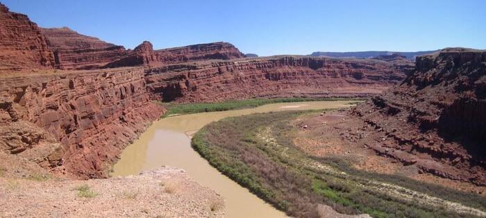 Colorado à Dead Horse Point rivière