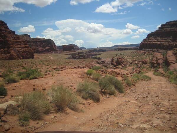 Colorado à Dead Horse Point sur la piste