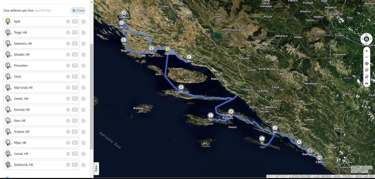 Croatie Circuit dalmatie centrale et du sud