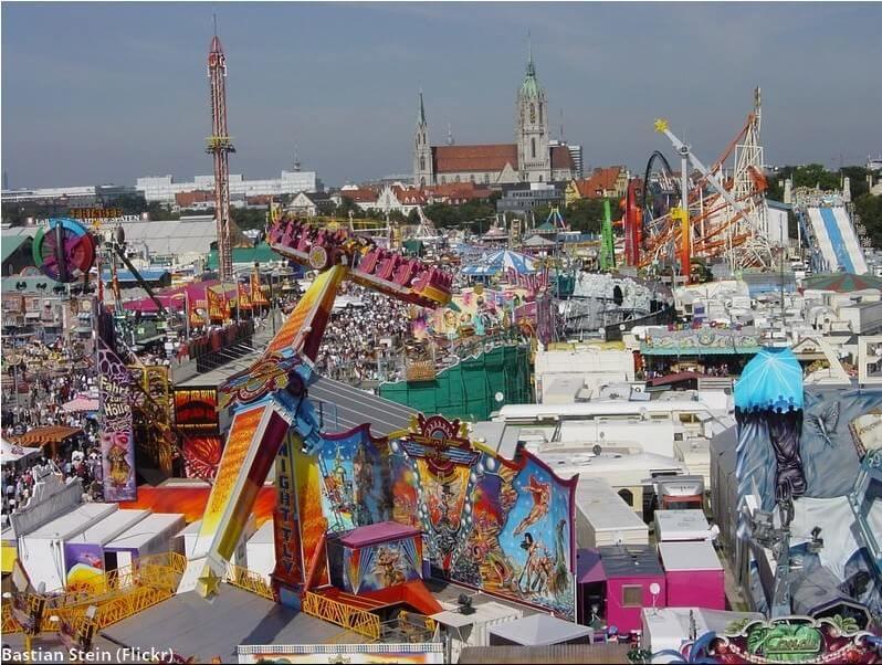 Fête foraine de Munich pendant Oktoberfest
