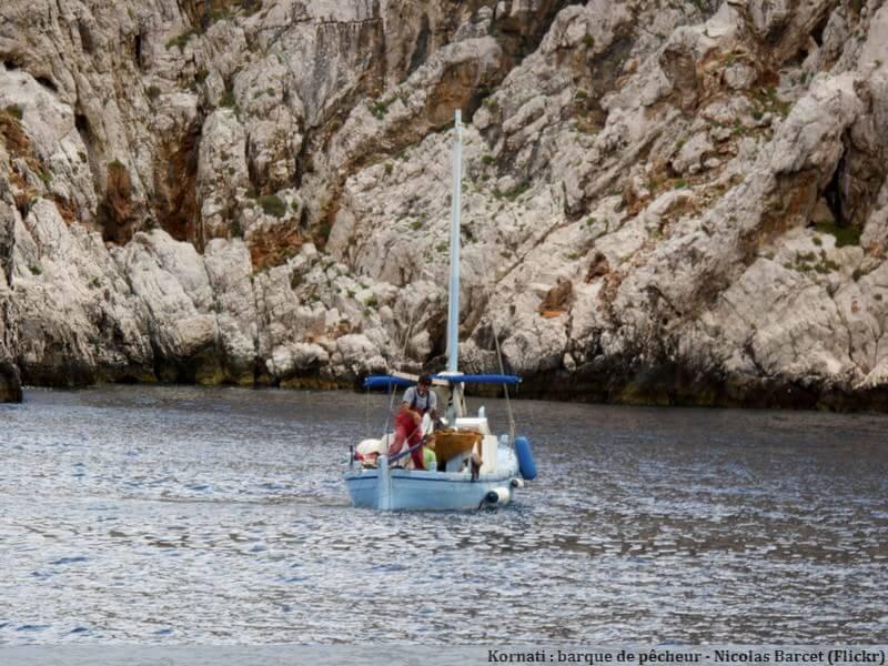 Iles Kornati Barque de pêcheur