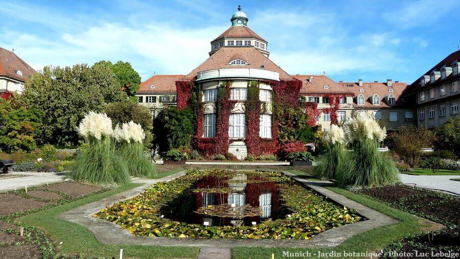 Jardin botanique de Munich en automne