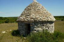Kazun Vodnjan cabanes traditionelles en pierre en Istrie