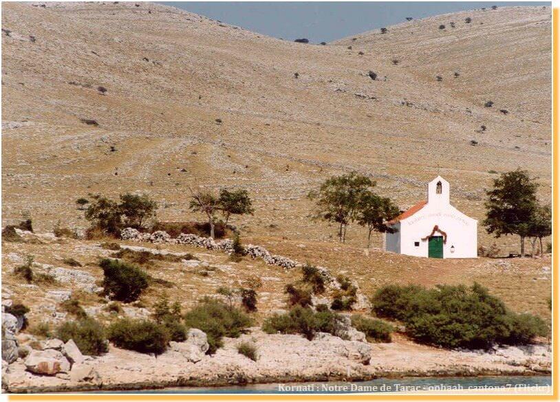Notre dame de Tarac dans l'une des îles Kornati
