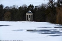 Parc Nymphenburg sous la neige