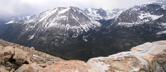 Rocky Mountain national park montagne enneigée
