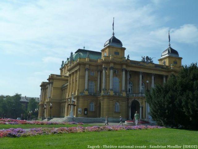 Zagreb theatre national croate façade latérale