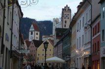 Füssen centre historique en fin d'après-midi