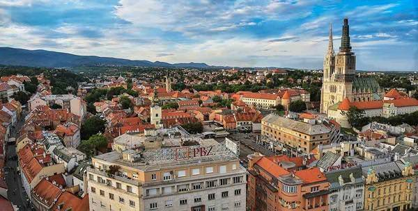 Panorama sur Zagreb depuis Zagreb Eye