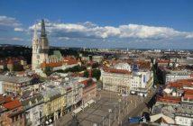 Place Ban Josip Jelacic depuis Zagreb eye 360