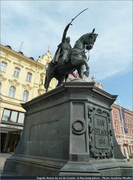 Statue Ban Josip Jelacic à Zagreb