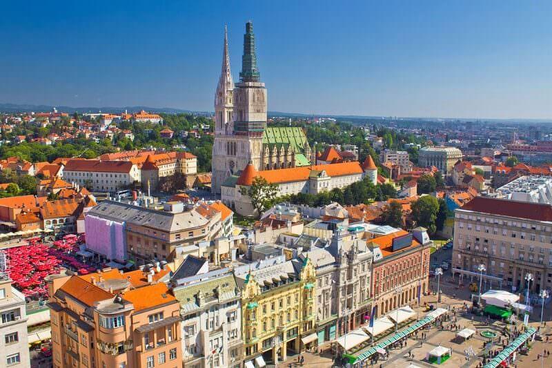 Zagreb Ville Basse Kaptol et Place Ban Josip Jelacic