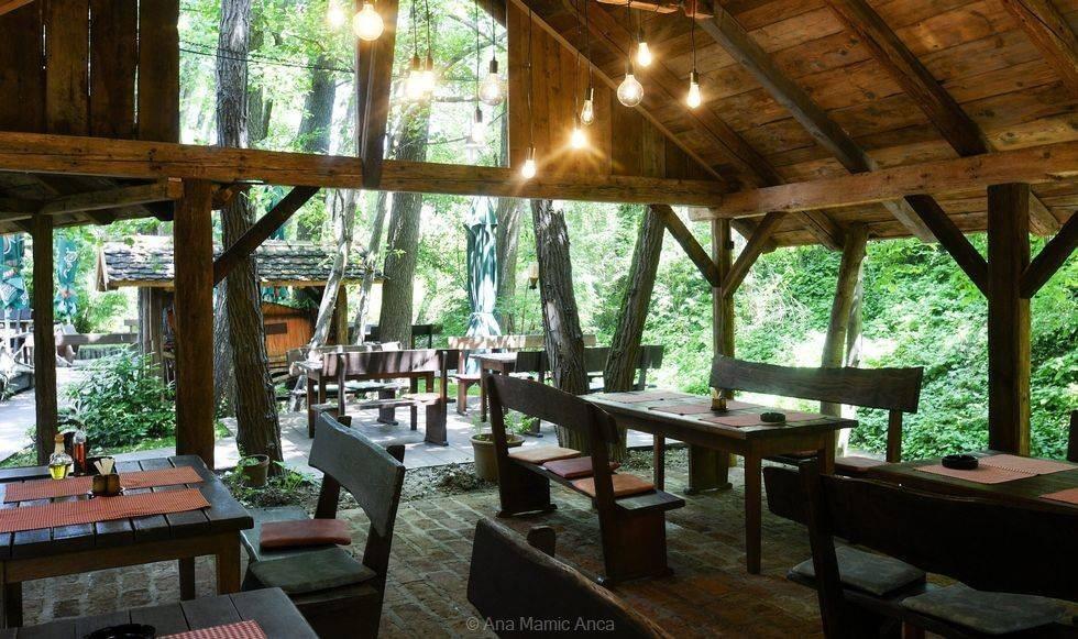 terrasse d'été restaurant V Starem Melinu à zagreb (1)