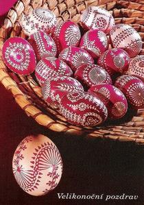 Oeufs pisanki décorés aux céréales