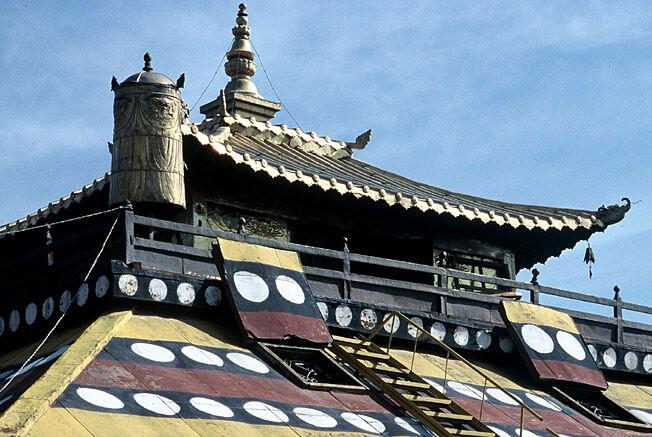 Oulan Bator monastere gandan toiture