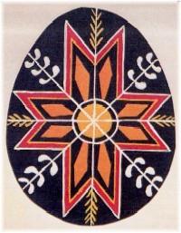 Pisanki oeuf de paques décoré en pologne