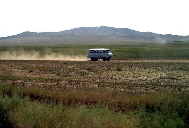 Steppe mongole en 4x4 russe