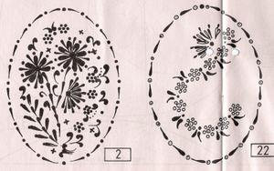 dessin représentant les pisanki et leurs décorations