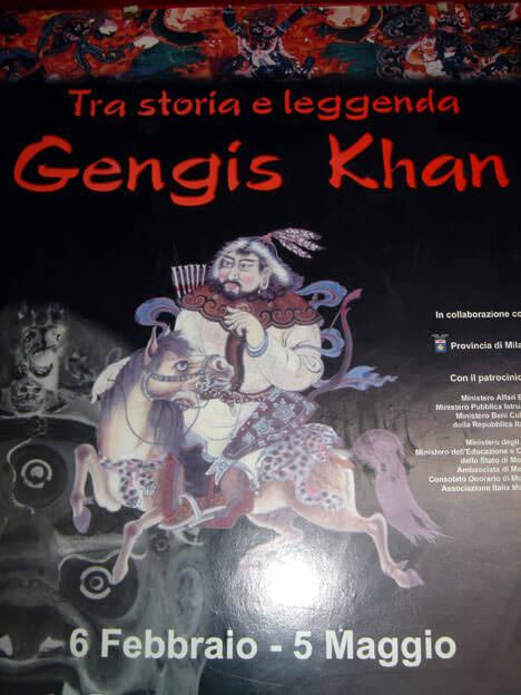mongolie affiche gengis khan