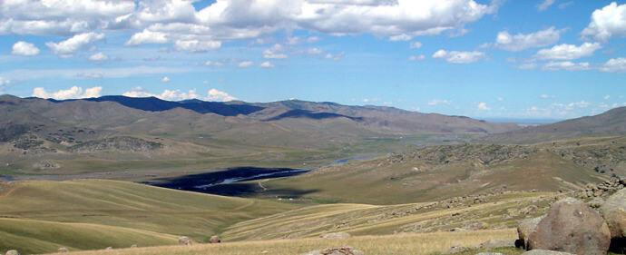 paysage de mongolie steppe