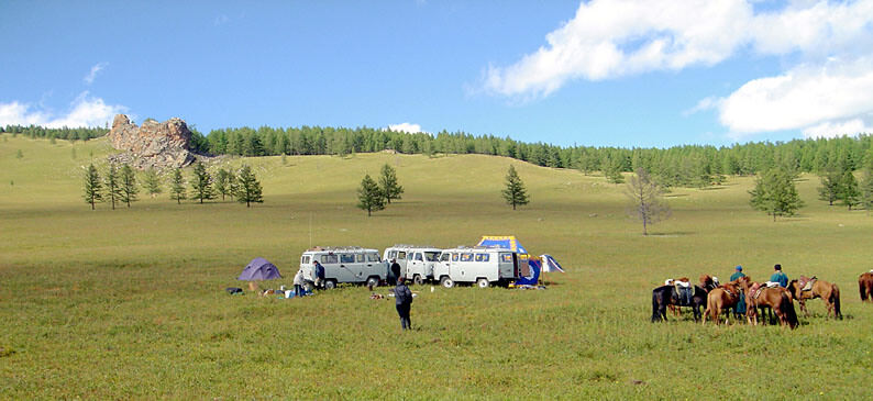 pique-nique dans la steppe mongole