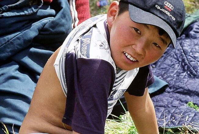 tserendroj jeune mongol dos nu
