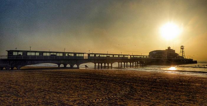 Bournemouth plage en angleterre