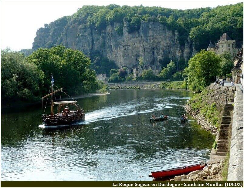 La roque gageac balade en gabarre sur la Dordogne