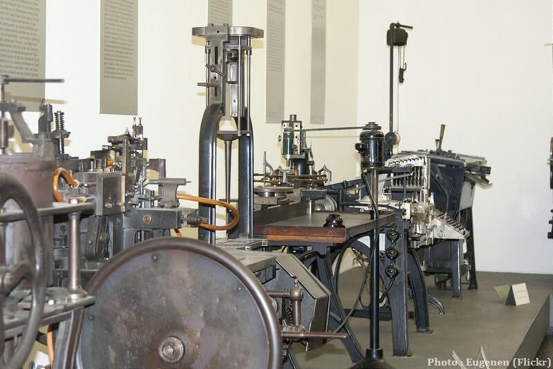 Machines du musée de l'imprimerie de Gutenberg