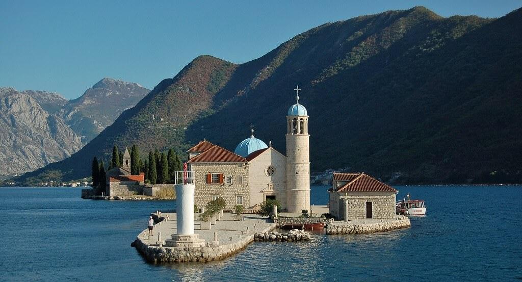 Montenegro baie de kotor Chapelle Notre dame des rochers