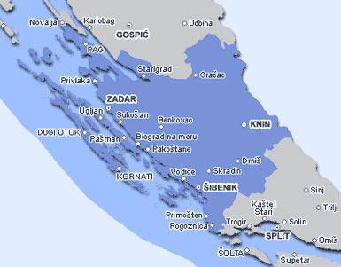 carte dalmatie du nord