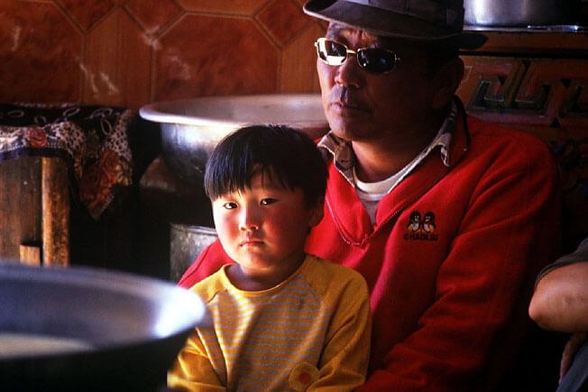 mongolie togo et son fils