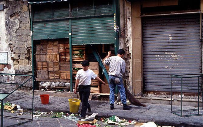 naples collecte des déchets