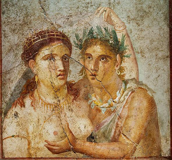 naples musée archéologique statue d'un homme prenant le sein