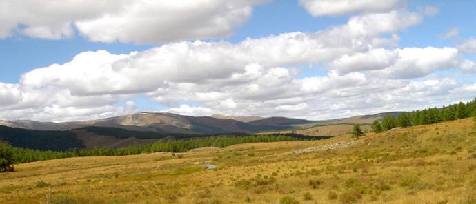panorama steppe mongole